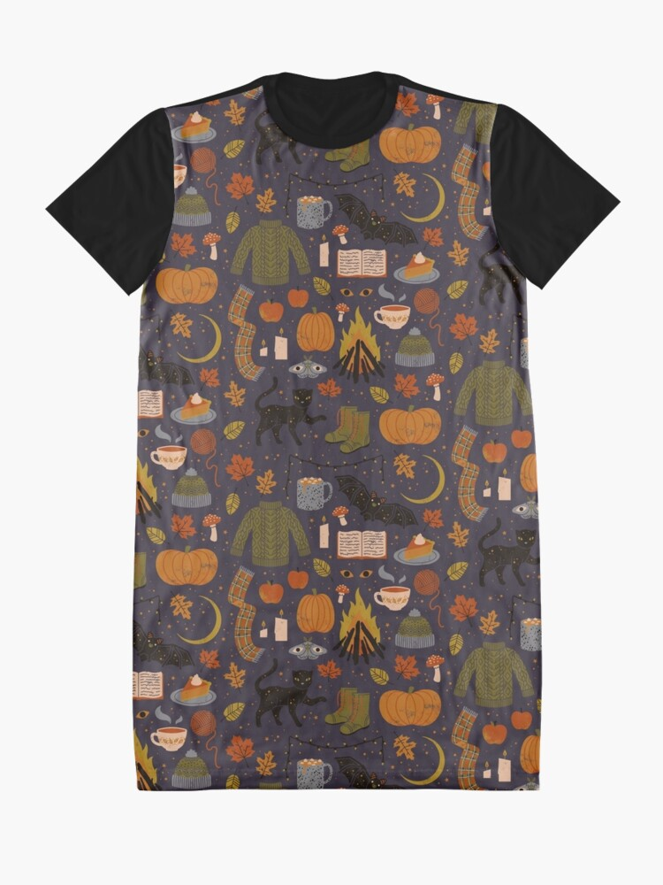 Alternate view of Autumn Nights Graphic T-Shirt Dress