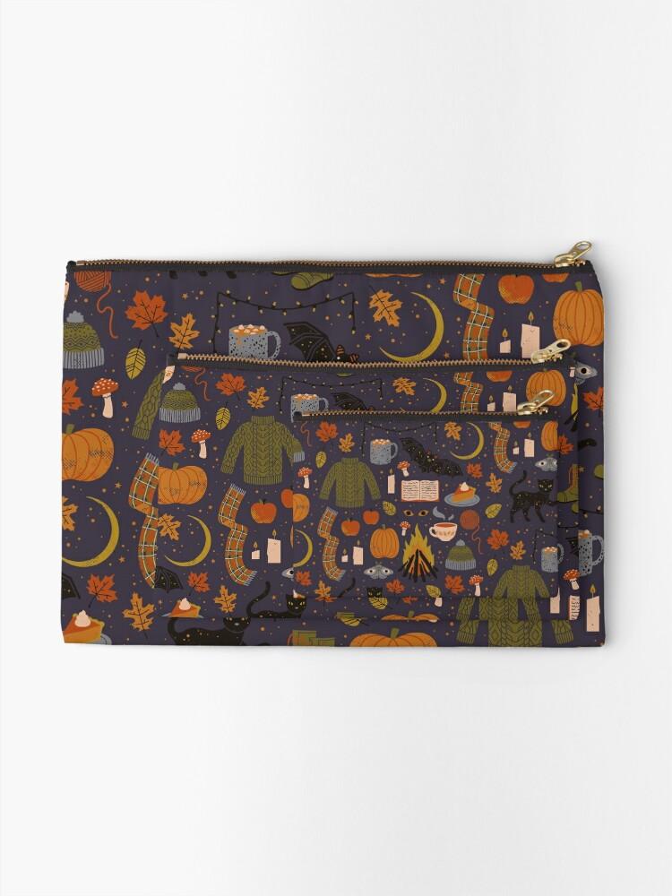 Alternate view of Autumn Nights Zipper Pouch