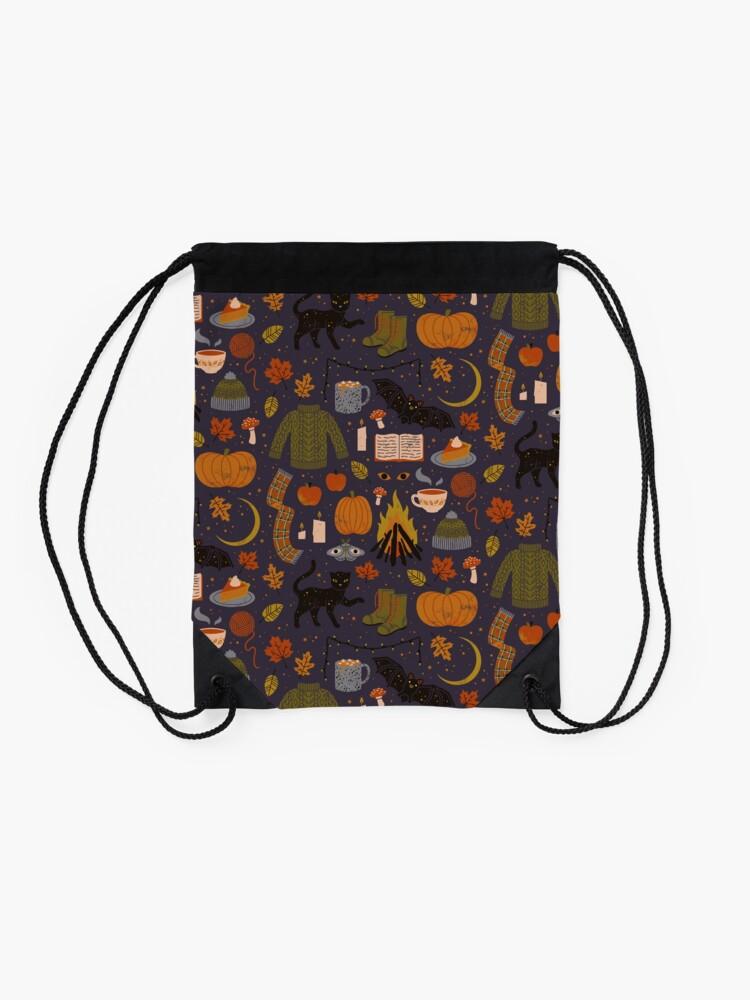 Alternate view of Autumn Nights Drawstring Bag