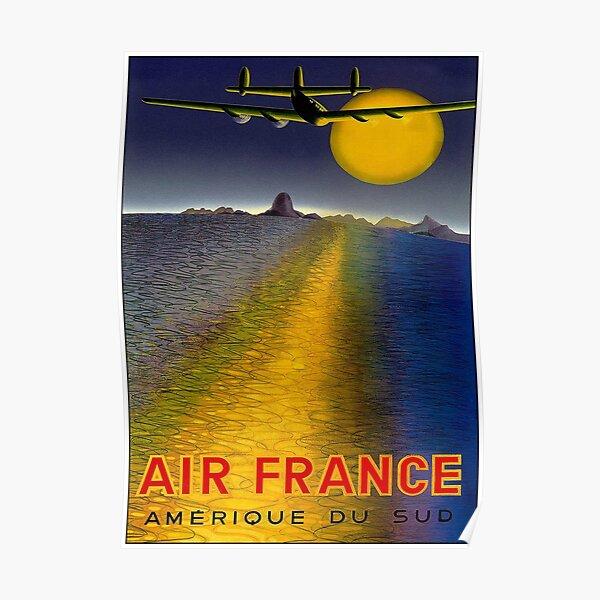 AIR FRANCE: Impression publicitaire Vintage Amerique Du Sud Poster