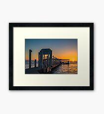 Pier In Hawaii Framed Print
