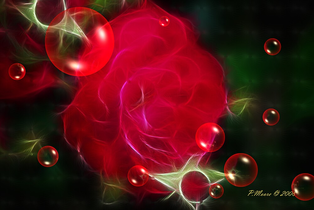 Red Bubbles by Pat Moore