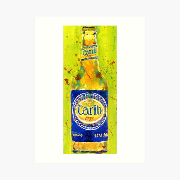 Caribbean Beer Bottle Art Print