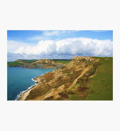 Houns Tout Cliff & Emmetts Hill Photographic Print