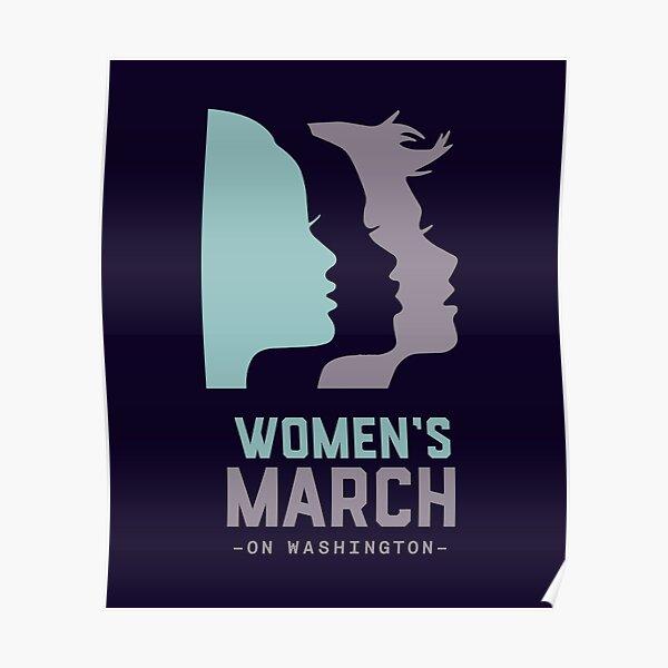 Women's March 2017 On Washington Poster