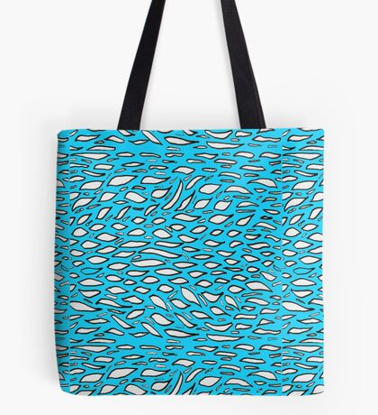 Random doodle 1 turquoise with leaf flakes Tote Bag