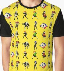 Persona Q Investigation Team Set Graphic T-Shirt