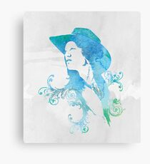 Wild West Series Watercolor Cowgirl Canvas Print