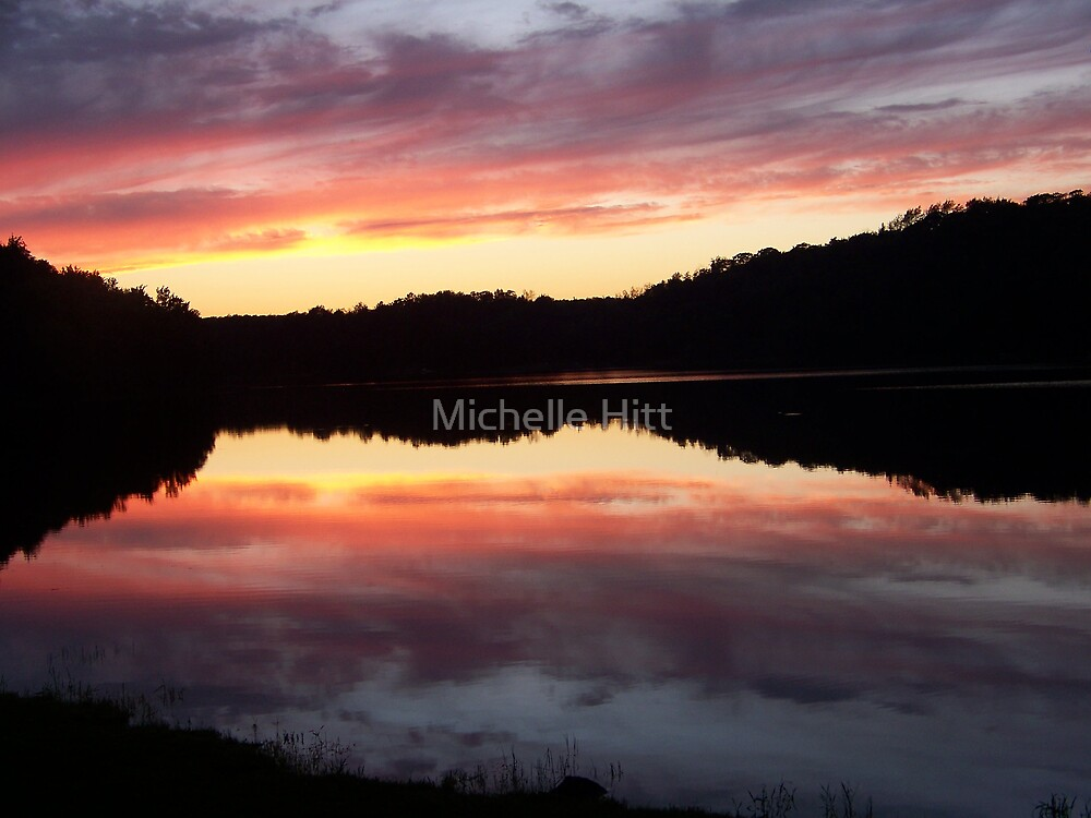 Sunset at Weber Lake by Michelle Hitt