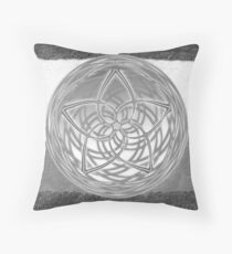 Celtic Spirals - Winter colors Throw Pillow