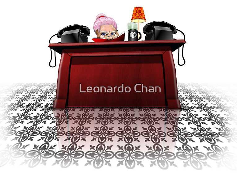 receptionist by Leonardo Chan
