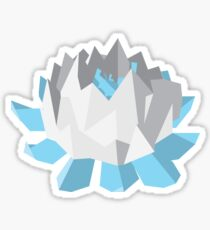 White and Blue Paper Lotus Flower Sticker