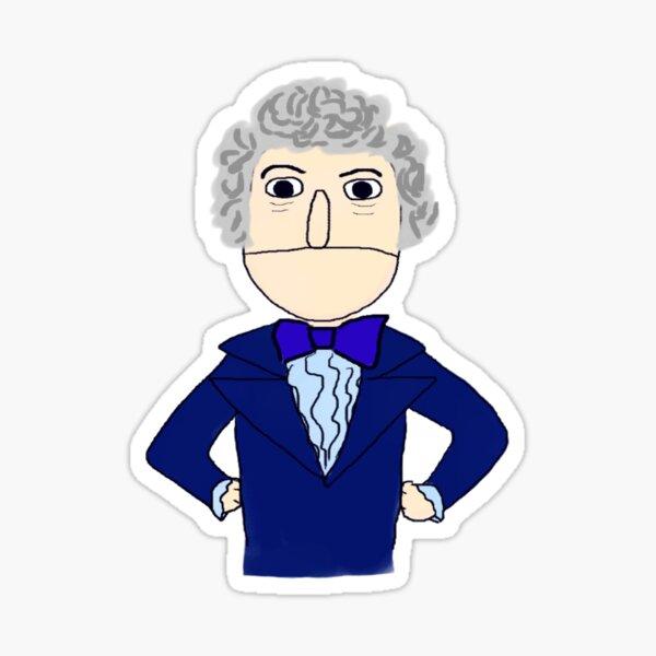 Third Doctor Muppet Style Sticker
