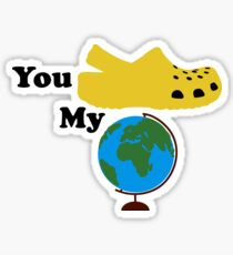 You Croc My World Yellow Sticker