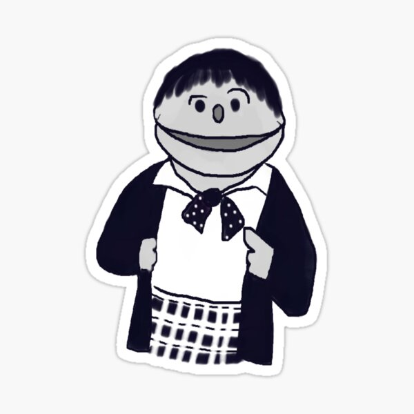 Second Doctor Muppet Style Sticker