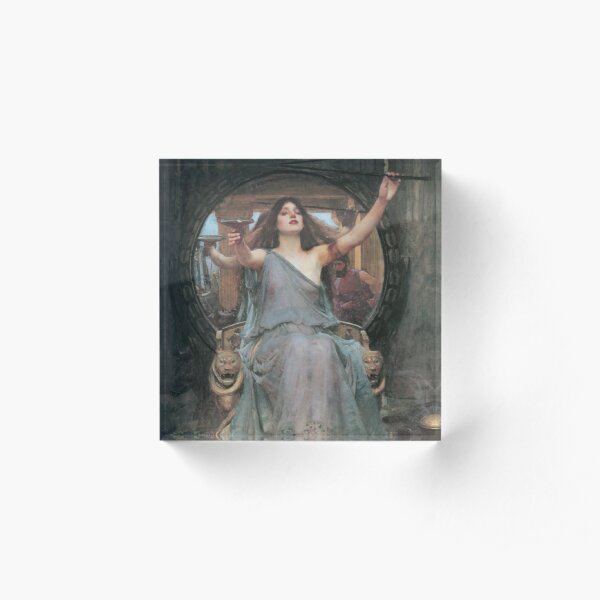 Circe Offering the Cup to Odysseus by John William Waterhouse Acrylic Block