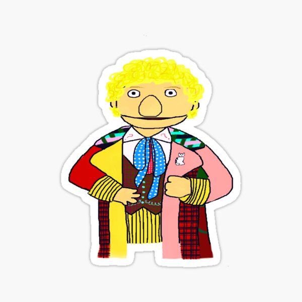 Sixth Doctor Muppet Style Sticker