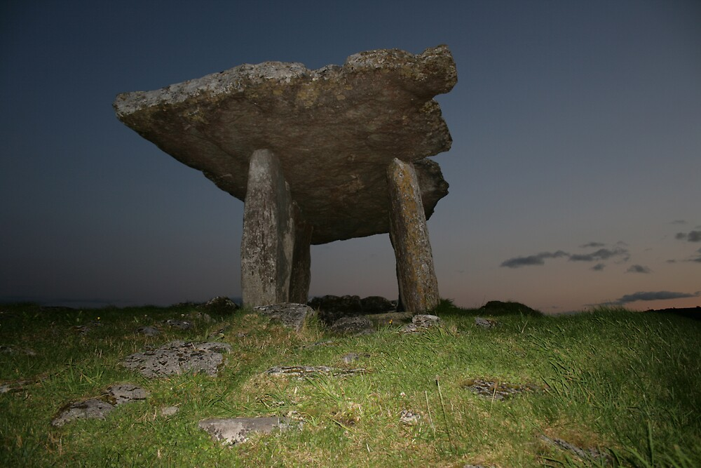 Poulnabrone Dolmen at night by John Quinn