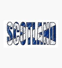 Scotland Font with Scottish Flag Photographic Print
