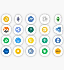 Crypto Coins Sticker