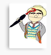 Seventh Doctor Muppet Style Canvas Print