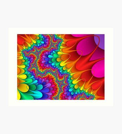 Psychedelic Rainbow Splash Art Print
