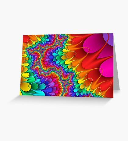 Psychedelic Rainbow Splash Greeting Card