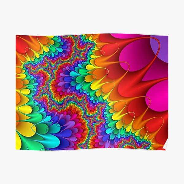 Psychedelic Rainbow Splash Poster