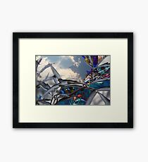 Clouds In Time Framed Print
