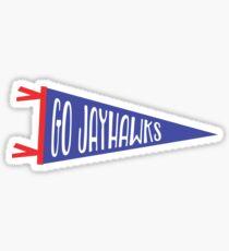 GO JAYHAWKS | UNIVERSITY OF KANSAS Sticker