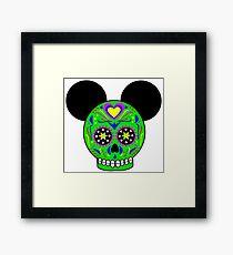 Dia De Los Muertos Ears (Green) Framed Print