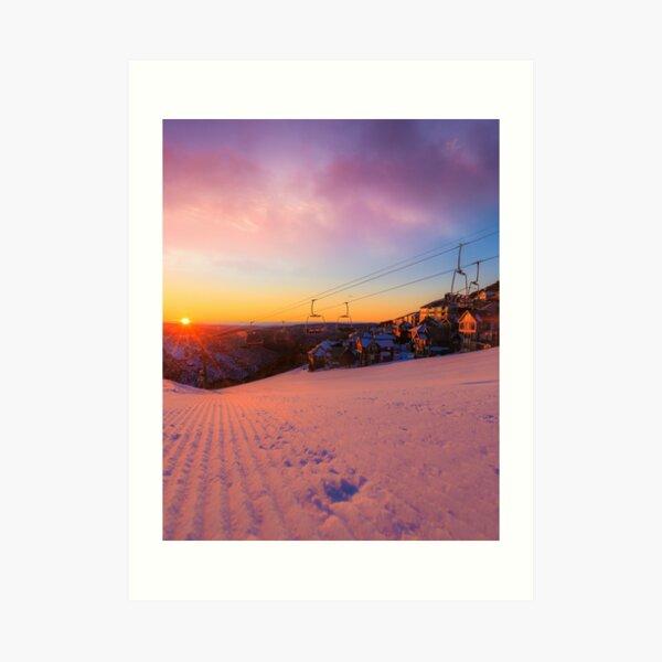 Hotham Height Sunrise Art Print