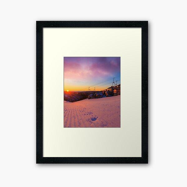 Hotham Height Sunrise Framed Art Print