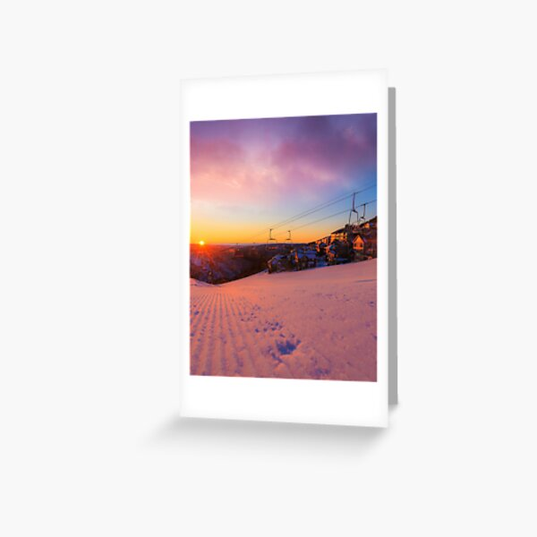 Hotham Height Sunrise Greeting Card