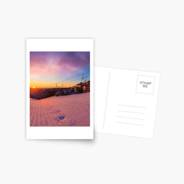 Hotham Height Sunrise Postcard