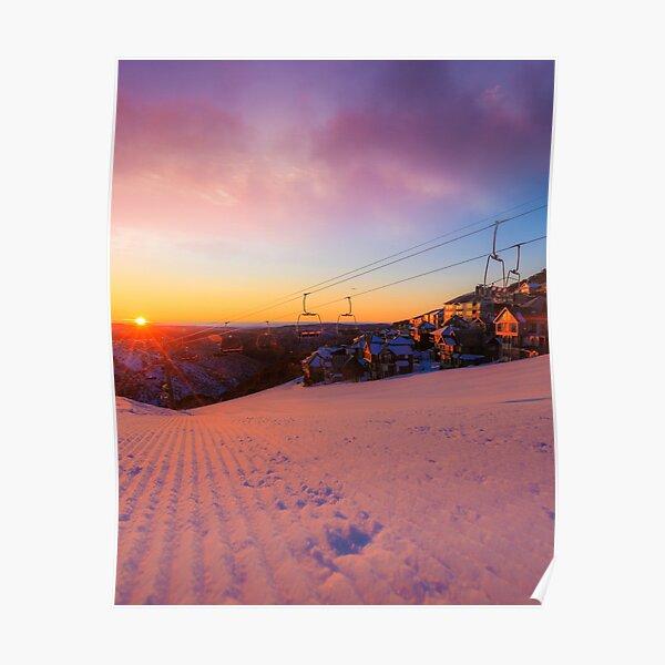 Hotham Height Sunrise Poster