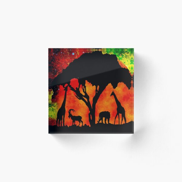 AFRICA Acrylic Block