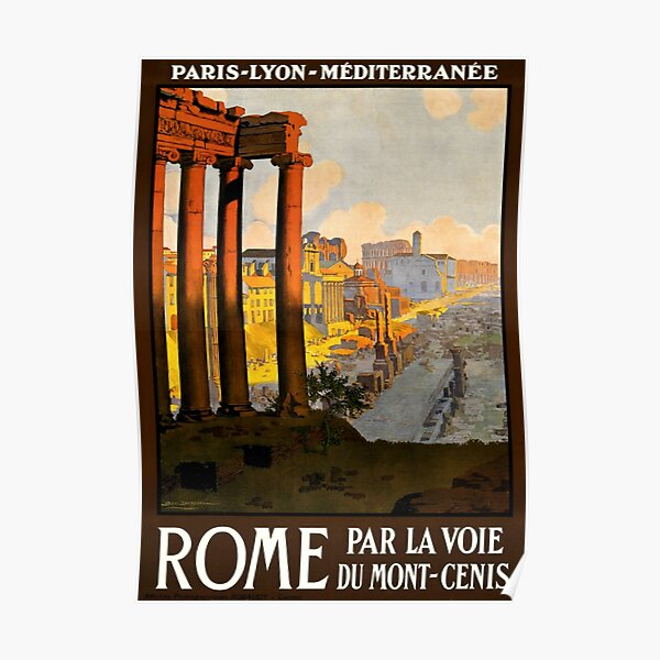 Vintage Poster Of Rome Poster
