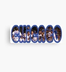 Chicago Font with Team Canvas Print
