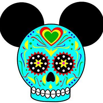 Dia De Los Muertos Ears (Teal) by Infernoman