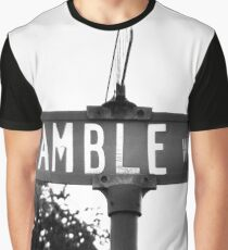 A Street Sign Named Bramble Way Graphic T-Shirt