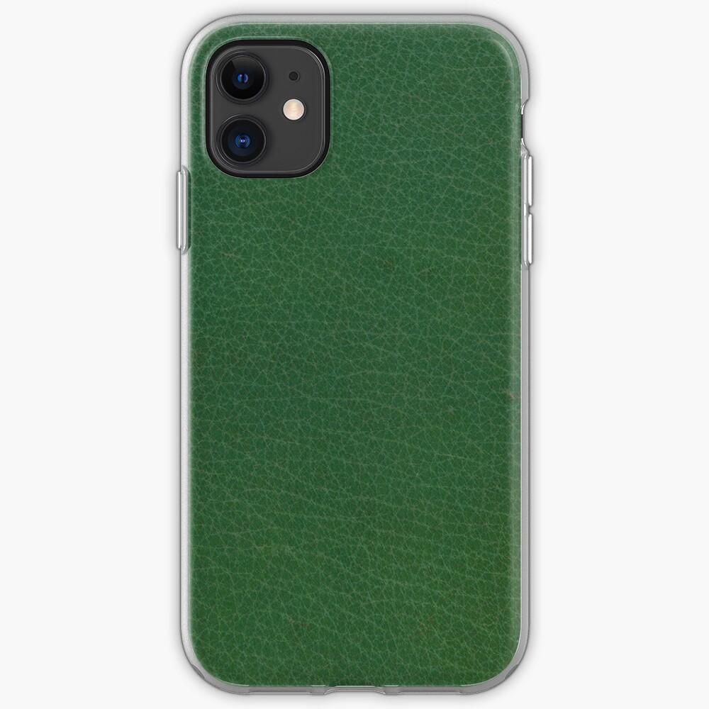 Cuero verde esmeralda Funda y vinilo para iPhone