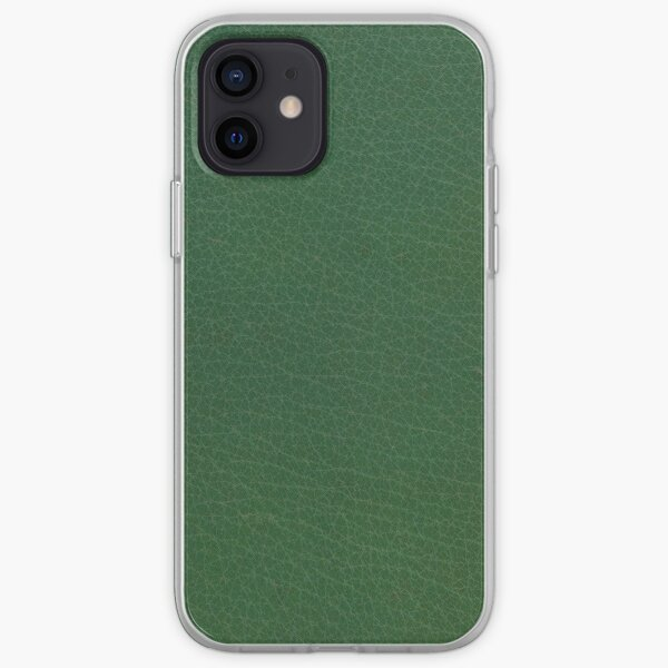 Emerald Green Leather iPhone Soft Case