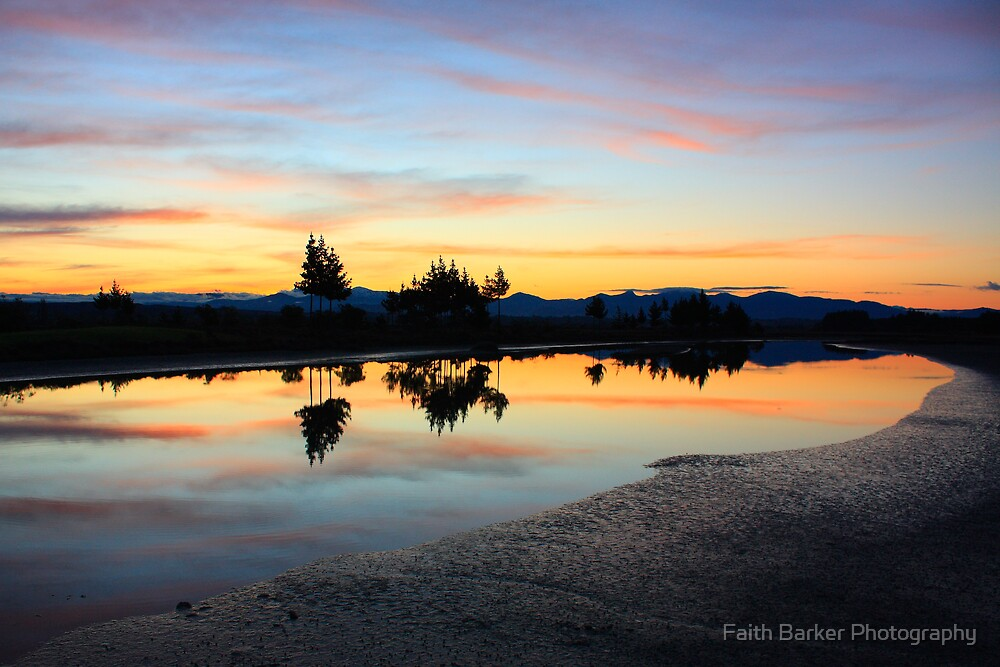 Sunset from Best Island by Faith Barker Photography