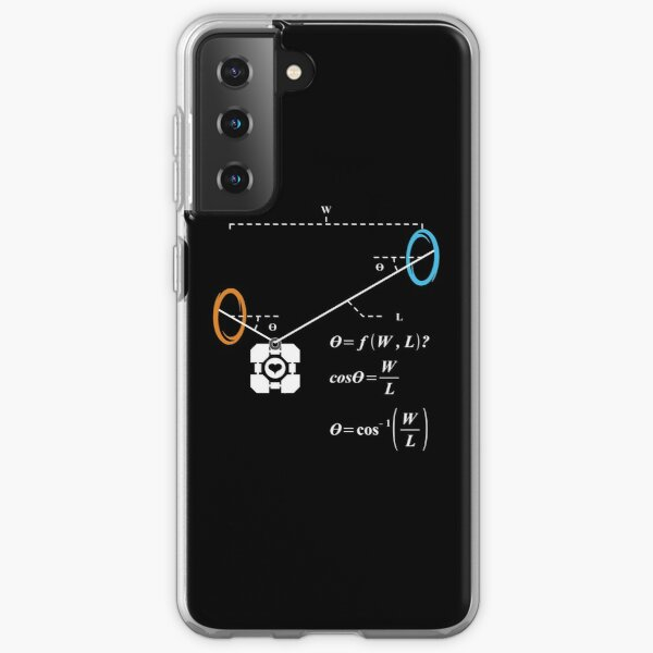 Newton's 1st Law of Motion with POrtals (White) Samsung Galaxy Soft Case