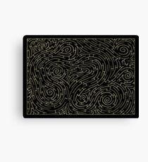 Get Lost - black Canvas Print