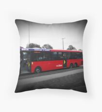 The Red Bus Throw Pillow