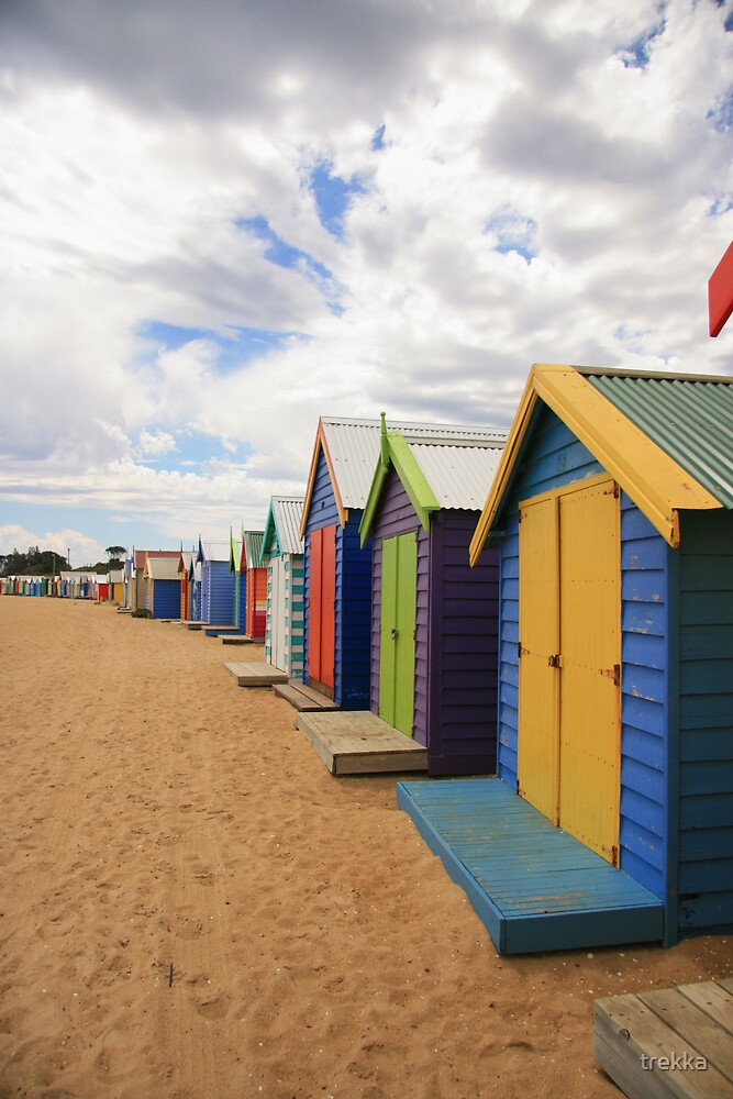 Beach Huts by trekka