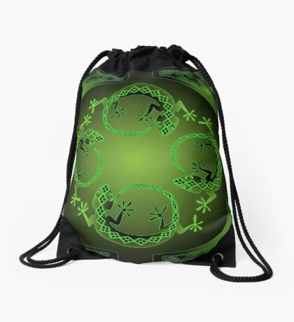 Green Gecko Drawstring Bag