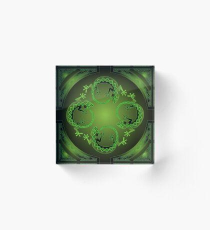 Green Gecko Acrylic Block